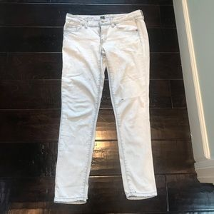 Whitewashed/acid wash ankle skinny mom 1980s jeans